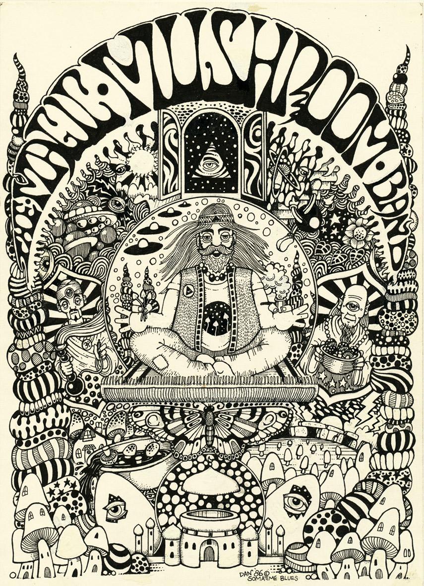 Magic Mushroom Drawings Psychedelic Mushroom